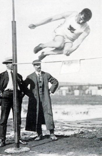 1904 Olympic Games, St, Louis, USA, High Jump,Ireland's Thomas Keiley in action during the competition (Photo by Popperfoto/Getty Images)