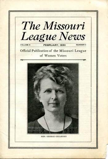 Gellorn_MissouriLeaugeNews_Cover_1930