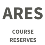 Link to log in to Ares course reserves