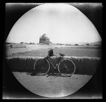 """""""The mosque of a Mogul sovereign of Irak at Sultania as seen from the road."""" August 8, 1891."""