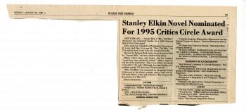 MSS039_XIV-3_stanley_elkin_novel_nominated_for_1995_critics_circle_award