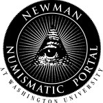 Newman Numismatic Portal (NNP) logo, an All Seeing Eye inside triangle with beams and the NNP name written out around it.