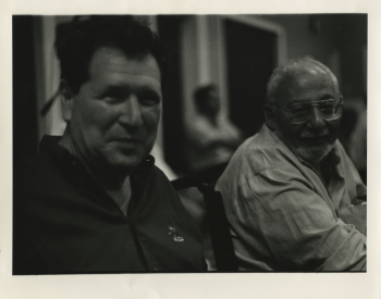 MSS155_Stanley_Elkin_photo_with_Herb_Yellin_1995