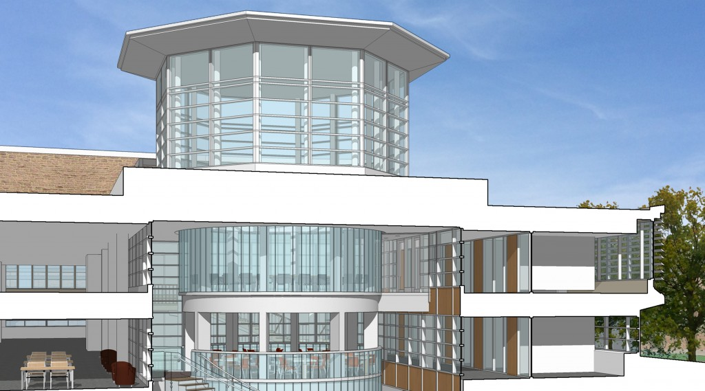 A rendering of the Olin Library