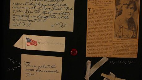 Page from Schageman's scrapbook for the year 1918. Washington University Memorabilia Collection, Box 21, Folder 1: Student Scrapbook - Schageman, I., 1915-19.