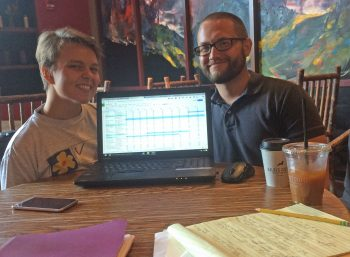 Karisa Tavassoli and Ian Darnell, summer 2016 Mapping LGBTQ St. Louis research assistants.