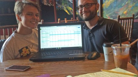 Karisa Tavasoli and Ian Darnell, summer 2016 Mapping LGBTQ St. Louis research assistants.