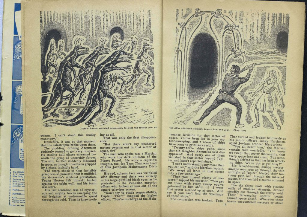 """Captain Future, Man of Tomorrow"" Summer, 1942, (p.12-13)"