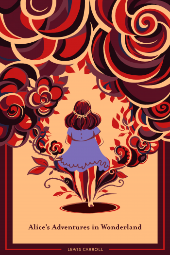 'Alice's Adventures in Wonderland' book cover by Alice Wang