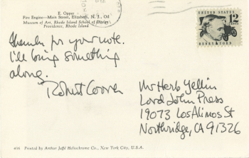 mss155_robert_coover_postcard_to_herb_yellin_from_coover_1981_02