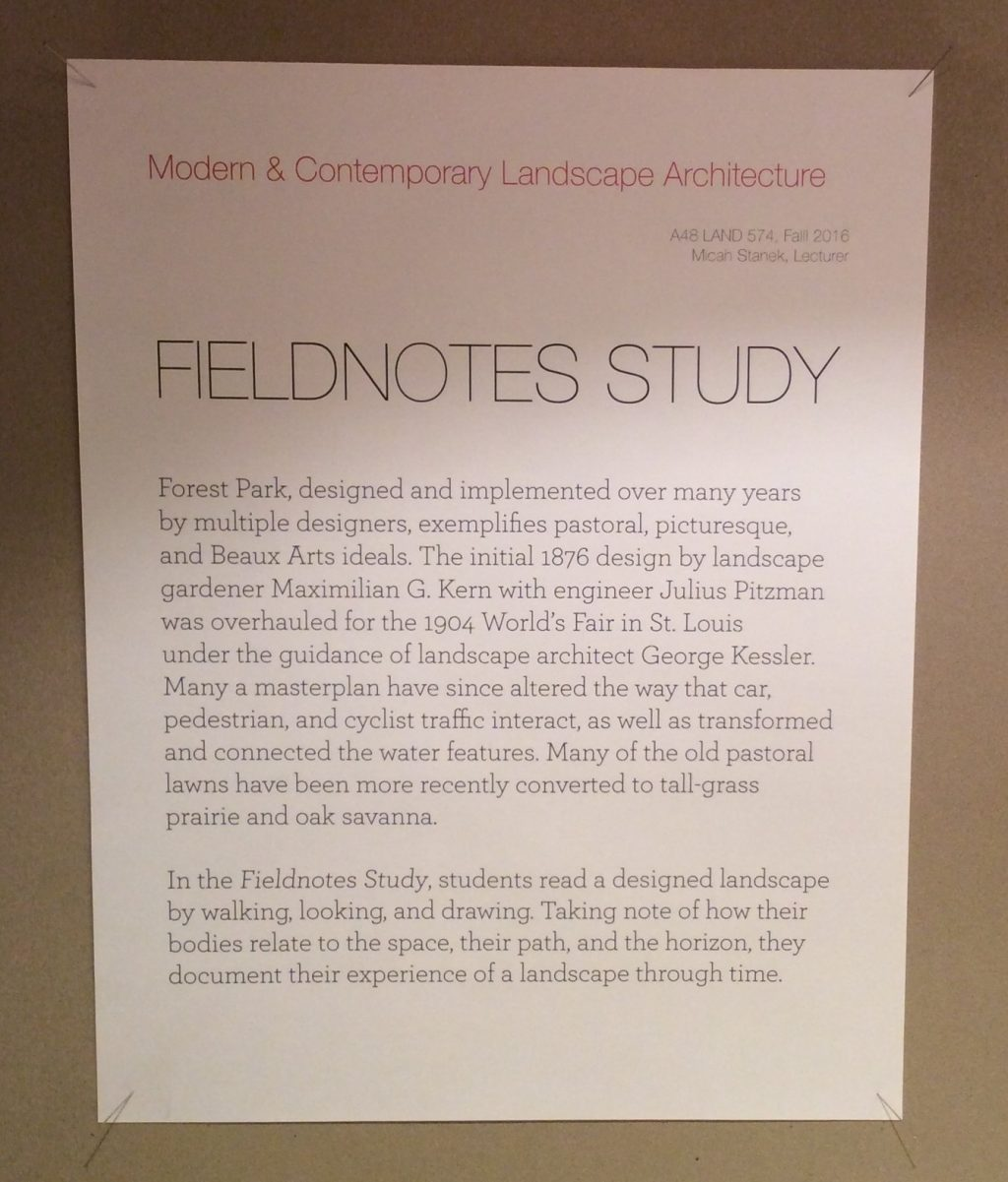 Fieldnotes study exhibit