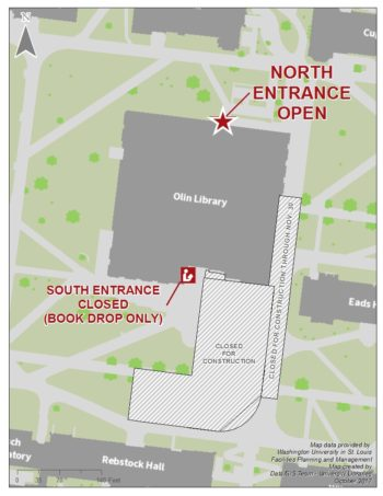 North entrance map