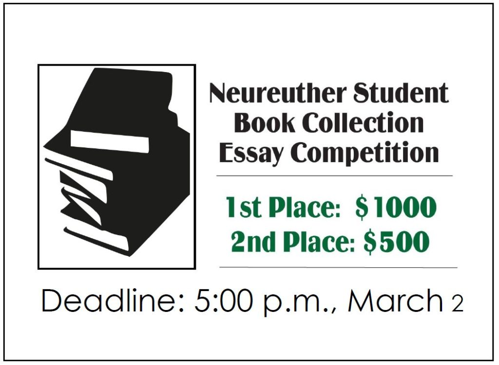 enter wu libraries student essay contest for a chance to win cash  the wu libraries are giving away cash prizes to the students who write the best short essays about their personal book collections