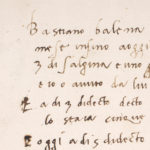 Michelangelo's handwritten business records