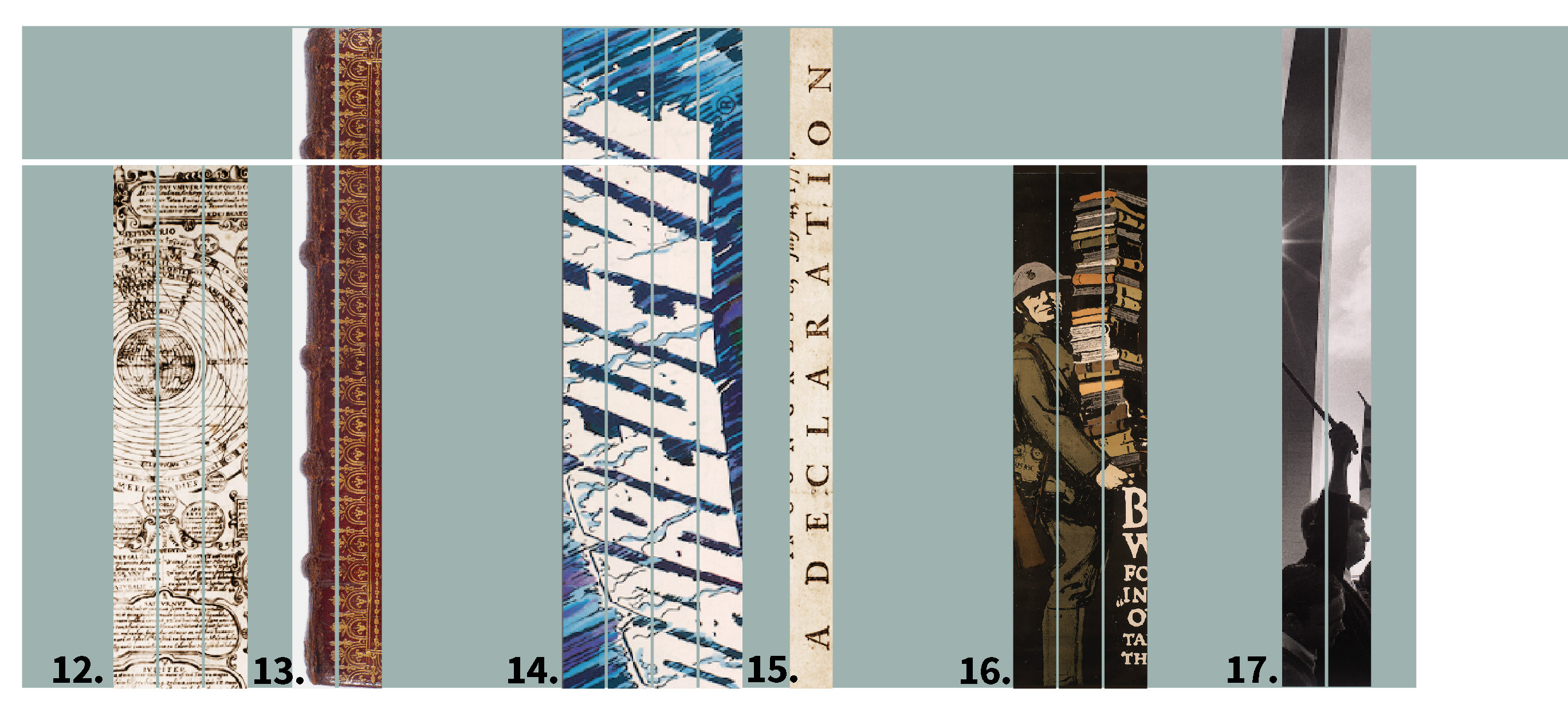 Images on the exterior of Level 1 of the Newman Tower