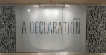 Exterior of the Declaration of Independence exhibition