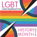 LGBT History Month 2018 with rainbow graphic