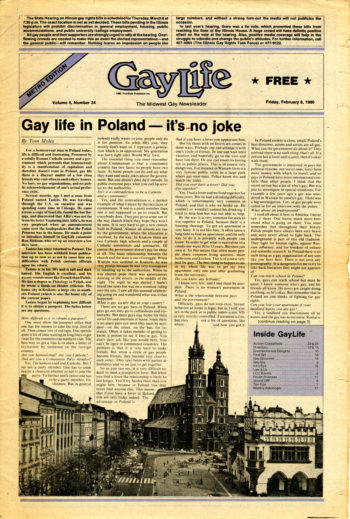 An issue of Gay Life from Feb 8, 1980.