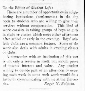 text of letter by Baldwin to newspaper