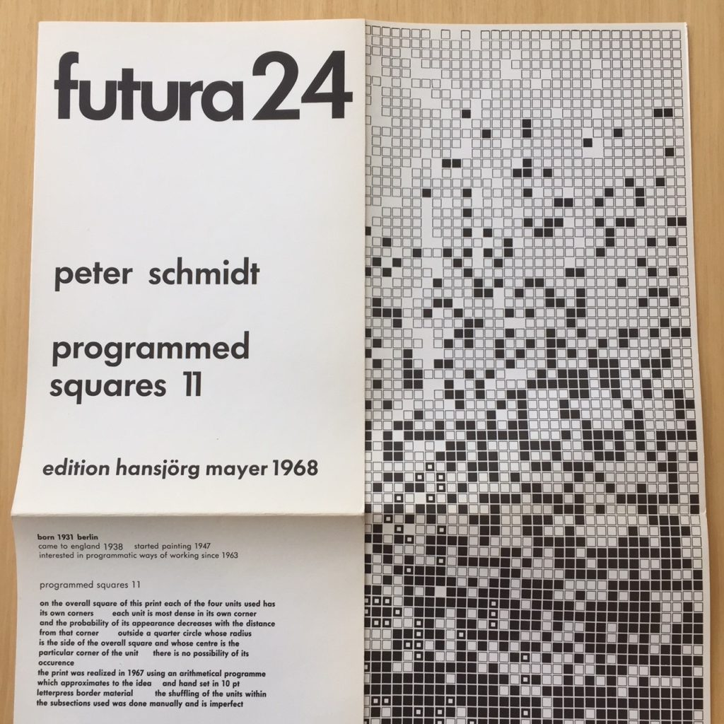 Futura issue number 24, programmed squares