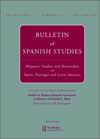 formerly Bulletin of Hispanic Studies