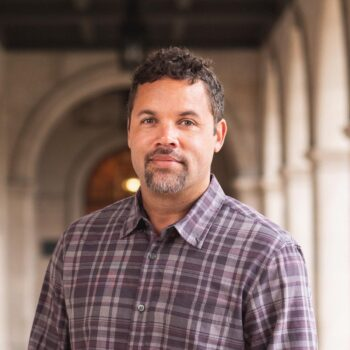 Associate chair of Washington University's Department of African and African-American Studies, Geoff Ward, whose project is the Racial Violence Archive, an interactive digital research tool that uses geographic information systems (GIS) to explore the history and legacies of racial violence.