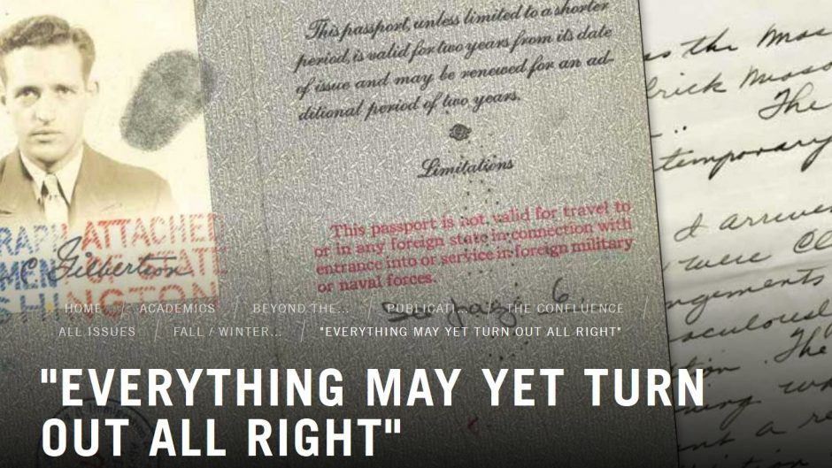 Historic documents and text: Everything May Yet Turn Out All Right