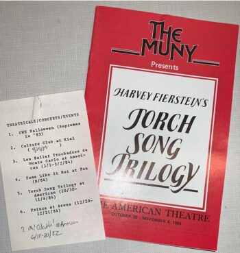 list of performances and theater program from The Muny