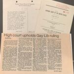 court documents and newspaper clipping