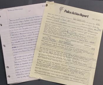 letter and police action form