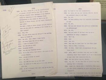 script for TV show
