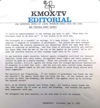 KMOX-TV Editorial May 3, 1973