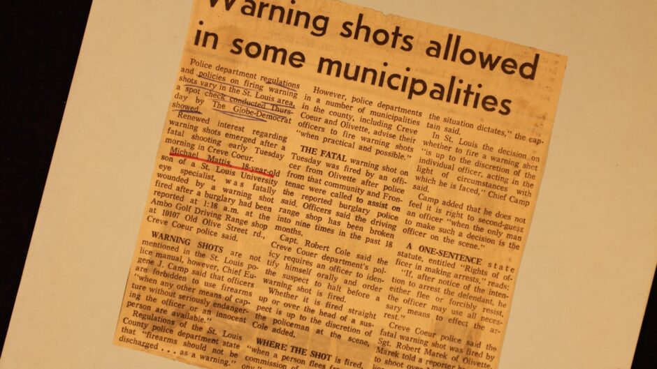 "newspaper clipping ""Warning shots allowed in some municipalities"""