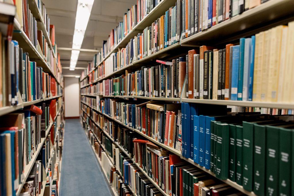 Books on Shelves in Olin