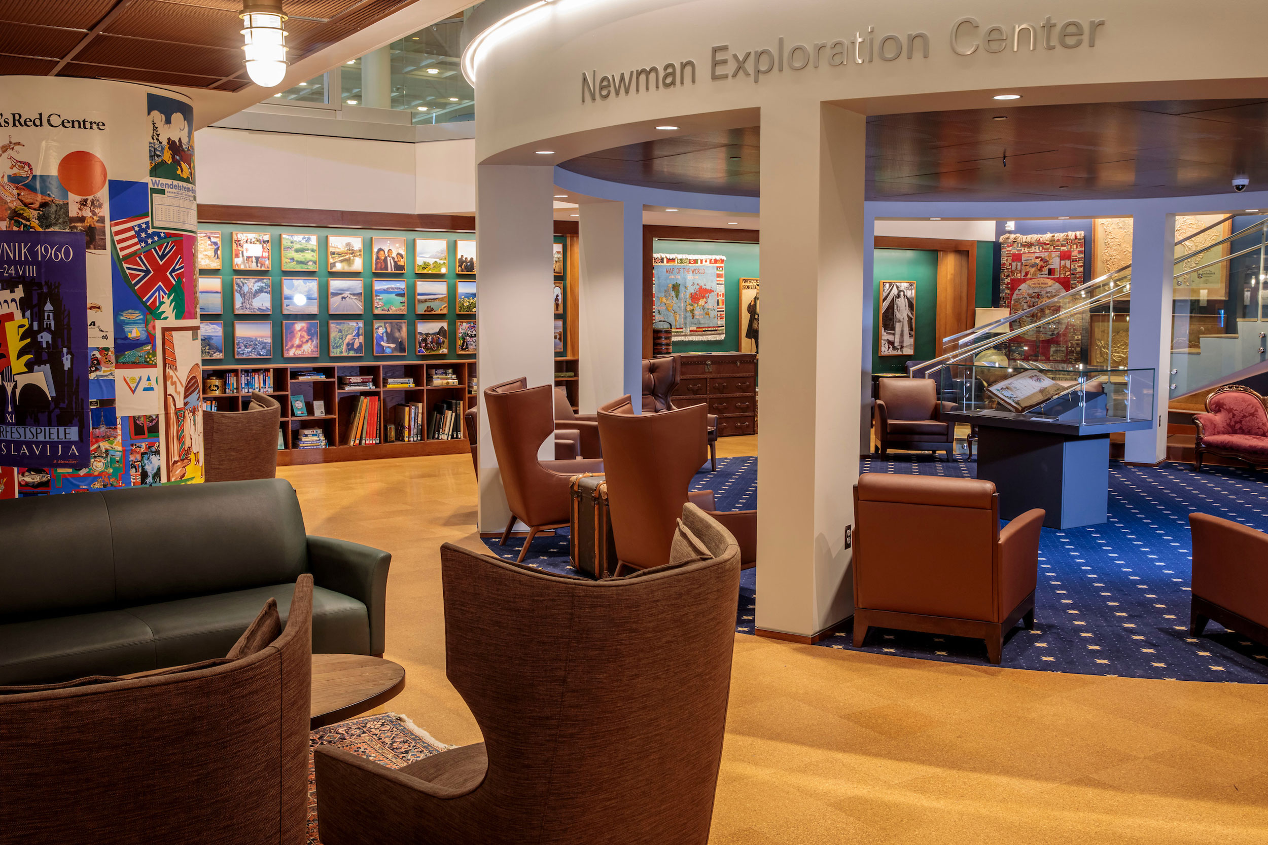 Interior or Newman Exploration Center in Olin Library