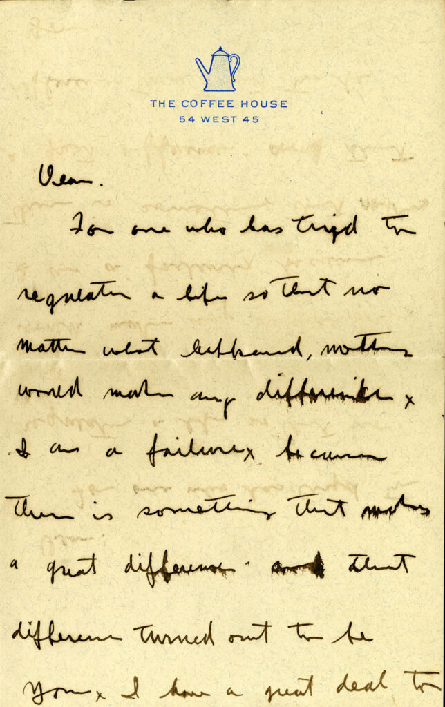Letter from John Held Jr. to Gladys Moore.