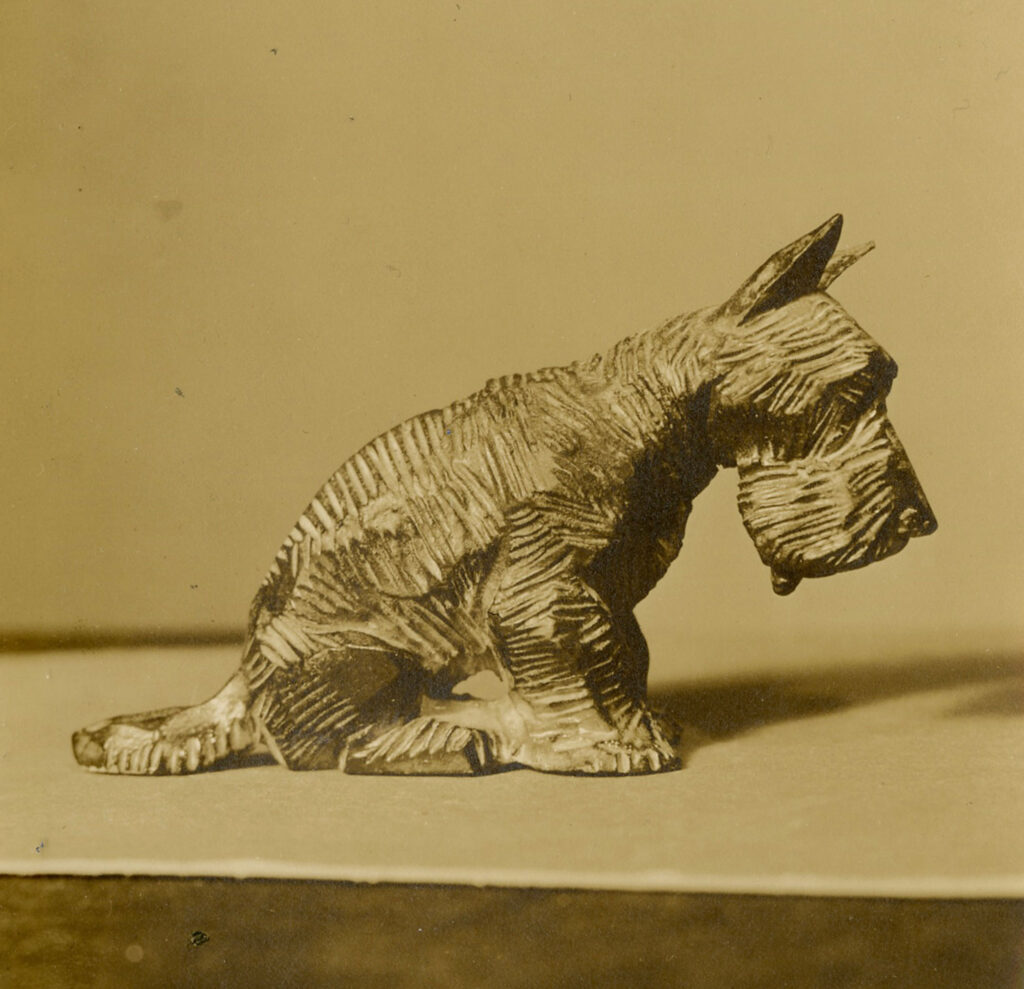 Scottish terrier sculpture by John Held Jr.
