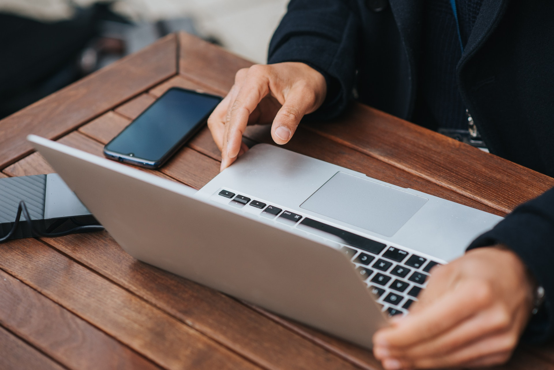 Stock image of a person using a computer.